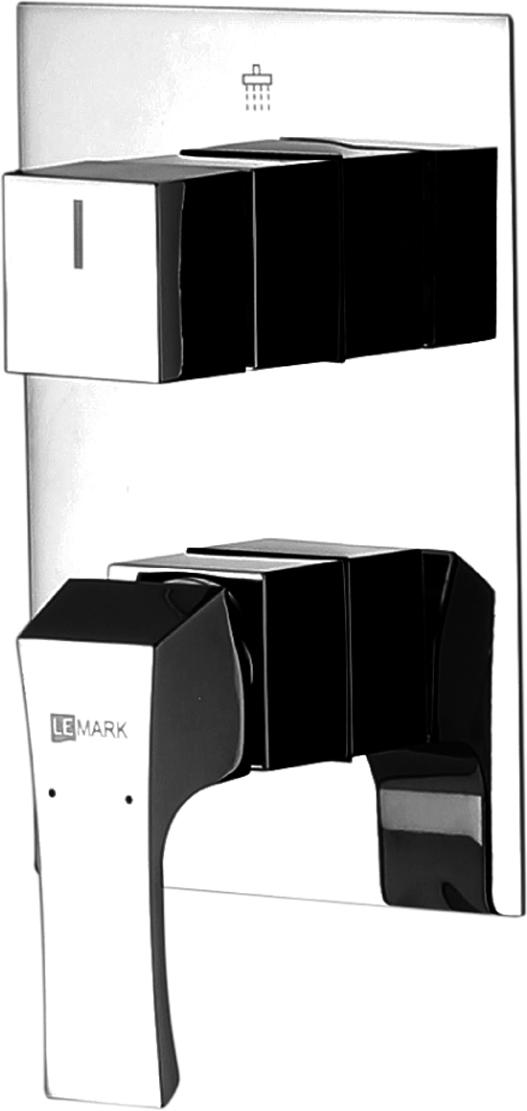 Смеситель Lemark Unit, для ванны и душа, встраиваемый. LM4528C душевая система lemark tropic для ванны и душа lm7003c