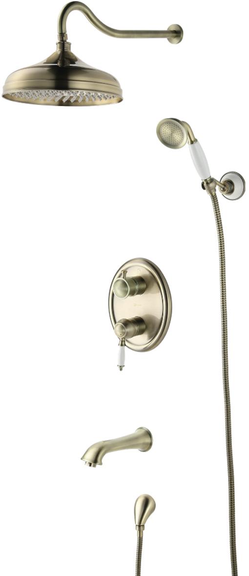 Смеситель Lemark Villa, для ванны и душа, встраиваемый. LM4822BLM4822BСерия VILLA - благородное обаяние вечных ценностей.Комплектация:Встраиваемый наполнитель для ванны с аэратором Neoperl® Cascade®Эко-картридж Sedal® 35 ммТрехпозиционный картриджный переключательВерхняя поворотная душевая лейка «Тропический дождь» O303 мм1-функциональная лейка O66 ммНастенное поворотное крепление для лейкиДушевой шланг 2 мПодключение для душевого шлангаМеталлическая рукоятка