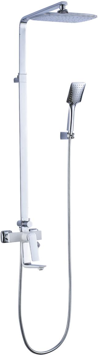 Серия ALLEGRO.Комплектация:Скрытый аэратор Neoperl® Slim AirКерамический картридж Sedal®35 ммТрехпозиционный картриджный переключательВерхняя поворотная душевая лейка «Тропический дождь» 200x300 мм1-функциональная лейка 84x102 ммНастенное поворотное крепление для лейкиДушевой шланг 2 мМеталлическая рукоятка