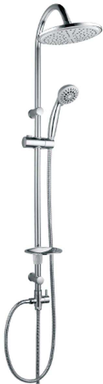 Душевой гарнитур Lemark LM8801C с фиксированной высотой штанги и верхней душевой лейкой Тропический дождьLM8801CLM8801C.Душевой гарнитур с фиксированной высотой штанги и верхней душевой лейкой «Тропический дождь».Комплектация:• 5-функциональная лейка O85 мм. Режимы: распыление, массаж, брызги шампанского, эко-режим, пауза• верхняя поворотная душевая лейка «Тропический дождь» O200 мм• переключатель с керамическими пластинами• регулируемое по высоте крепление для лейки• регулируемая по высоте мыльница• душевой шланг 1,5 м (стальной, оплетка с двойным загибом)• шланг 0,8 м для подключения к смесителю (стальной, оплетка с двойным загибом)Смесители LEMARK рассчитаны на 30 лет комфортной эксплуатации.В них соединены современные технологии производства и продуманный конструктив. Установлены комплектующие от известных мировых производителей, являющихся лидерами в своих сегментах:• немецкие аэраторы Neoperl – устройства, регулирующие расход воды;• керамические картриджи и кран-буксы испанской фирмы Sedal.Вся продукция LEMARK устанавливается не только в частном секторе, но и с успехом эксплуатируется в офисах Hewlett-Packard, Walt Disney Studios Sony Pictures Releasing, Mail.ru Group, а также в новом терминале аэропорта «Толмачево» в Новосибирске.Сегодня на смесители LEMARK установлен беспрецедентный 10-летний период бесплатного сервисного обслуживания. Данное условие действует, даже если монтаж изделий производится покупателями cамостоятельно.Сервисная сеть насчитывает 90 гарантийных мастерских по России и странам СНГ.