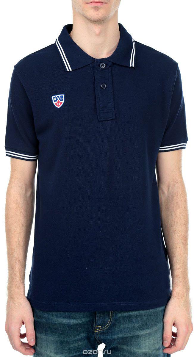 Купить Поло мужское КХЛ, цвет: темно-синий. 261290. Размер M (48)