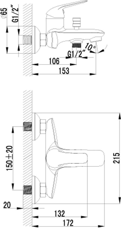 plus ADVANCE LM1202C.Смеситель для ванны с монолитным изливом.Комплектация:• аэратор• керамический картридж 35 мм• кнопочный переключатель с функцией ручной фиксации• аксессуары в комплекте: шланг 1,5 м, настенное фиксированное крепление, 1-функциональная лейка• металлическая рукояткаСмесители LEMARK рассчитаны на 30 лет комфортной эксплуатации.В них соединены современные технологии производства и продуманный конструктив. Установлены комплектующие от известных мировых производителей, являющихся лидерами в своих сегментах:• немецкие аэраторы Neoperl – устройства, регулирующие расход воды;• керамические картриджи и кран-буксы испанской фирмы Sedal.Вся продукция LEMARK устанавливается не только в частном секторе, но и с успехом эксплуатируется в офисах Hewlett-Packard, Walt Disney Studios Sony Pictures Releasing, Mail.ru Group, а также в новом терминале аэропорта «Толмачево» в Новосибирске.Сегодня на смесители LEMARK установлен беспрецедентный 10-летний период бесплатного сервисного обслуживания. Данное условие действует, даже если монтаж изделий производится покупателями cамостоятельно.Сервисная сеть насчитывает 90 гарантийных мастерских по России и странам СНГ.