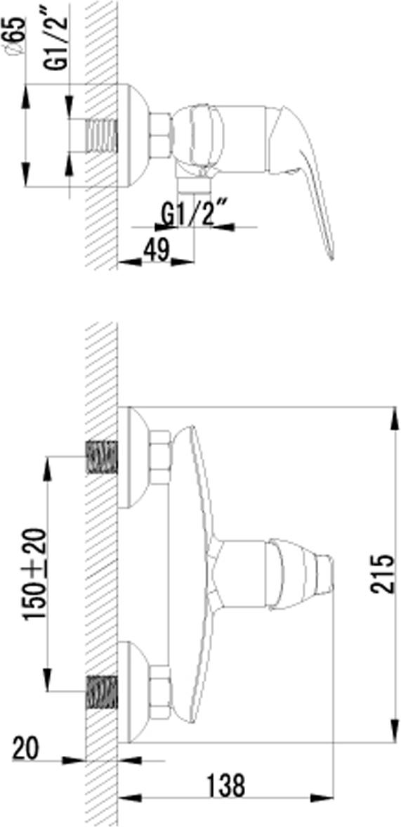 """Смеситель для душа Lemark """"Plus Advance"""" изготовлен из высококачественной первичной латуни, прочной, безопасной и стойкой к коррозии. Инновационные  технологии литья и обработки латуни, а также увеличенная толщина стенок смесителя обеспечивают его стойкость к перепадам давления и температур.  Увеличенное никель-хромовое покрытие полностью соответствует европейским стандартам качества, обеспечивает его стойкость и зеркальный блеск в течение всего срока службы изделия. Благодаря гладкой внутренней поверхности смесителя, рассекателям в водозапорных механизмах и аэратору он  имеет минимальный уровень шума.В комплекте: лейка, шланг из нержавеющей стали 1,5 м."""