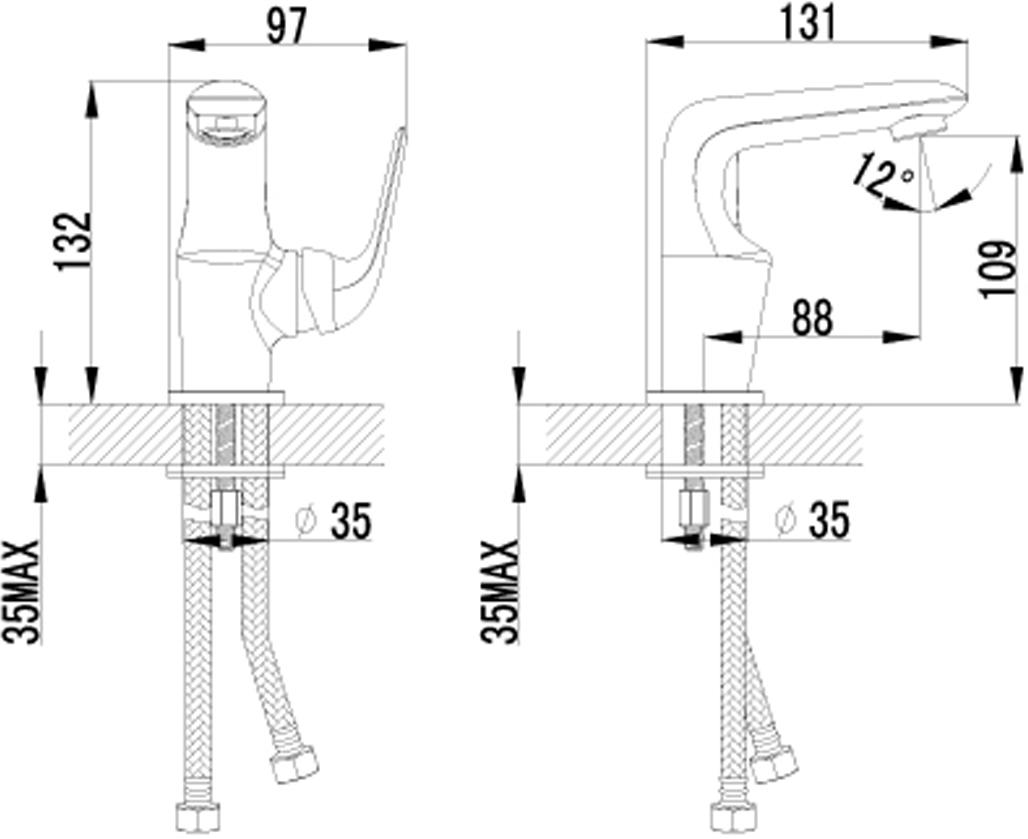 """Монолитный одноручный смеситель для умывальника Lemark """"Plus Advance"""" изготовлен методом литья из высококачественной латуни с пониженным  содержанием свинца. В качестве рабочего элемента используется картридж с керамическими пластинами диаметром 25 мм. Смеситель снабжен аэратором с функцией легкой очистки, который обеспечивает низкий уровень шума и делает струю воды равномерной и приятной на ощупь. Пластиковая сетка препятствует быстрому загрязнению и защищает от известковых отложений.Присоединительная группа для горизонтального крепления в комплекте. Гибкая подводка снабжена латунными накидными гайками (d = 1/2""""), что обеспечивает ее прочное подсоединение к водопроводной системе. Смесители Lemark """"Plus Advance"""" адаптированы к низкому качеству российской водопроводной воды и максимально подходят под условия эксплуатации в нашей стране (жесткая вода, частые перепады температуры и напора воды). В комплекте: аэратор, гибкая подводка.Высота излива: 10,9 см.Длина излива: 8,8 см."""