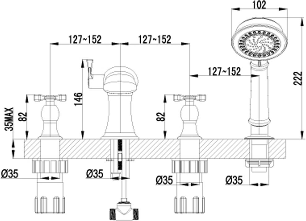 """Встраиваемый двухрычажный смеситель для ванны Lemark """"Benefit"""" изготовлен методом литья из высококачественной латуни с пониженным содержанием свинца.  Смеситель снабжен аэратором, который обеспечивает низкий уровень шума и делает струю воды равномерной и приятной на ощупь. Пластиковая сетка препятствует быстрому загрязнению и защищает от известковых отложений.  Смеситель Lemark """"Atlantiss"""" адаптирован к низкому качеству российской водопроводной воды и максимально подходит под условия эксплуатации в нашей стране (жесткая вода, частые перепады температуры и напора воды). В нем соединены современные технологии производства и продуманный конструктив. Установлены комплектующие от известных мировых производителей.    В комплекте: каскадный излив, кран-буксы с керамическими пластинами (угол поворота - 180°), переключатель с керамическими пластинами, шланг 2 м, свинцовый отвес, 5-функциональная лейка, металлические рукоятки."""