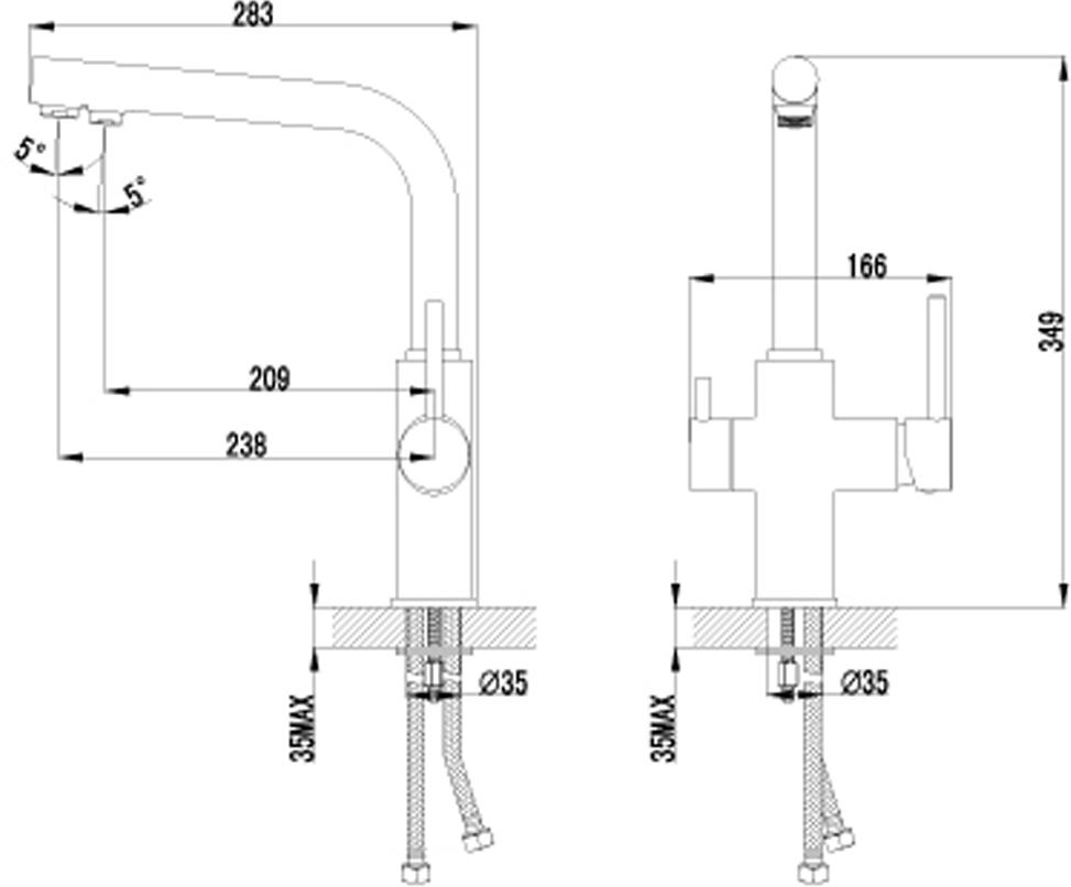 """Смеситель для кухни Lemark """"Comfort"""", с подключением к фильтру с питьевой водой. Комплектация: Аэратор для водопроводной воды Neoperl® Cascade®; Аэратор для питьевой воды Neoperl® Perlator®; Керамический картридж Sedal® 35 мм; Для крана с питьевой водой: кран-букса с керамическими пластинами (угол поворота - 90  градусов); Гибкая подводка 1/2"""" 45 см; Переходник для подключения шланга от фильтра с питьевой водой; Металлические рукоятки.Смесители LEMARK рассчитаны на 30 лет комфортной  эксплуатации.В них соединены современные технологии производства и продуманный  конструктив. Установлены комплектующие от известных мировых производителей, являющихся  лидерами в своих сегментах:немецкие аэраторы Neoperl - устройства, регулирующие расход  воды;керамические картриджи и кран-буксы испанской фирмы Sedal.Вся продукция  LEMARK устанавливается не только в частном секторе, но и с успехом эксплуатируется в офисах  Hewlett-Packard, Walt Disney Studios Sony Pictures Releasing, Mail.ru Group."""