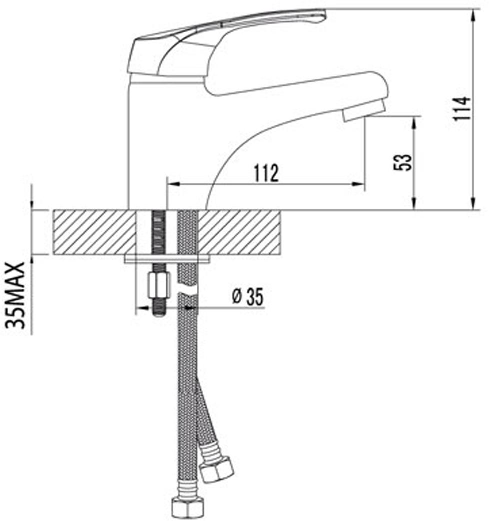 """Смеситель для умывальника Lemark """"Omega"""", монолитный.Комплектация: Аэратор Neoperl® Cascade®; Керамический картридж 35 мм; Гибкая подводка 1/2"""" 35 см; Металлическая рукоятка.Смесители LEMARK рассчитаны на 30 лет комфортной  эксплуатации.В них соединены современные технологии производства и продуманный  конструктив. Установлены комплектующие от известных мировых производителей, являющихся  лидерами в своих сегментах:немецкие аэраторы Neoperl - устройства, регулирующие расход  воды;керамические картриджи и кран-буксы испанской фирмы Sedal.Вся продукция  LEMARK устанавливается не только в частном секторе, но и с успехом эксплуатируется в офисах  Hewlett-Packard, Walt Disney Studios Sony Pictures Releasing, Mail.ru Group."""