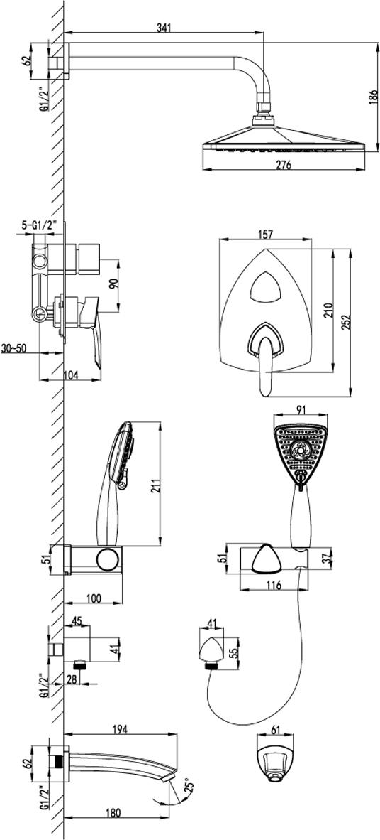 Серия смесителей MARS - это воплощение красоты и эргономики в оригинальном дизайне.Комплектация:Встраиваемый наполнитель для ванны с аэраторомЭко-картридж 35 ммТрехпозиционный картриджный переключательВерхняя поворотная душевая лейка «Тропический дождь» 276х276х301 мм3-функциональная лейка 91х106 ммНастенное поворотное крепление для лейкиДушевой шланг 2 мПодключение для душевого шлангаМеталлическая рукоятка
