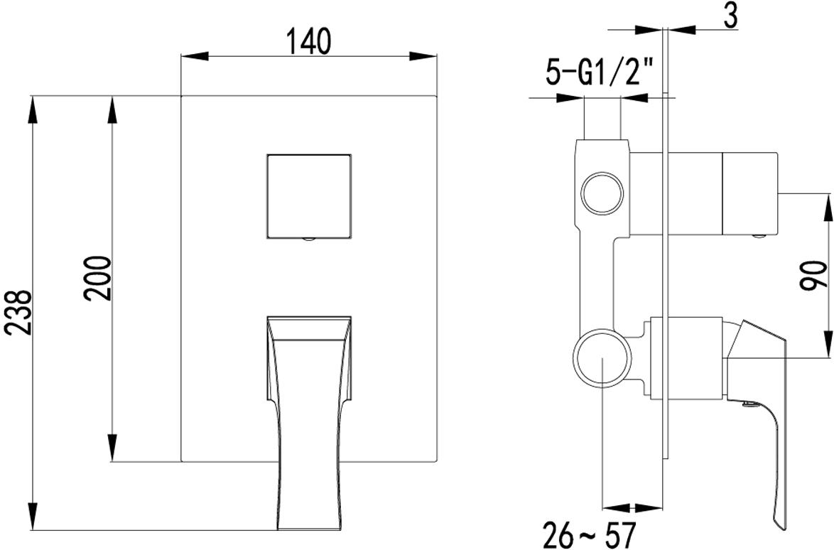 Серия UNIT - это совершенство изгибов и гармония граней.Комплектация:Эко-картридж 35 ммДвухпозиционный картриджный переключательМеталлическая рукоятка