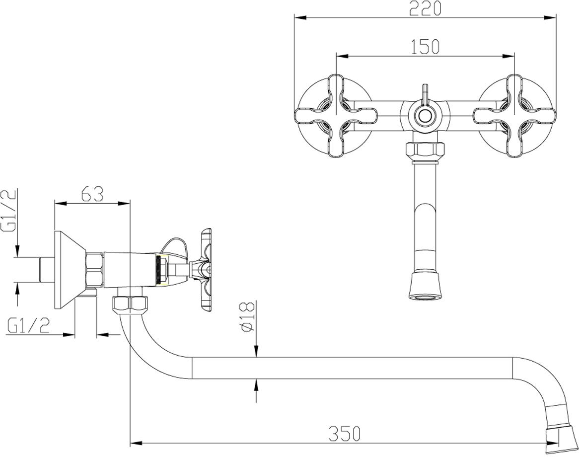 DUETTO LM5751C.Смеситель универсальный с круглым поворотным изливом 350 мм.Комплектация:• аэратор• кран-буксы с керамическими пластинами (угол поворота – 180 градусов)• переключатель с керамическими пластинами• аксессуары в комплекте: шланг 1,5 м, 1-функциональная лейка• металлические рукояткиСмесители LEMARK рассчитаны на 30 лет комфортной эксплуатации.В них соединены современные технологии производства и продуманный конструктив. Установлены комплектующие от известных мировых производителей, являющихся лидерами в своих сегментах:• немецкие аэраторы Neoperl – устройства, регулирующие расход воды;• керамические картриджи и кран-буксы испанской фирмы Sedal.Вся продукция LEMARK устанавливается не только в частном секторе, но и с успехом эксплуатируется в офисах Hewlett-Packard, Walt Disney Studios Sony Pictures Releasing, Mail.ru Group, а также в новом терминале аэропорта «Толмачево» в Новосибирске.Сегодня на смесители LEMARK установлен беспрецедентный 10-летний период бесплатного сервисного обслуживания. Данное условие действует, даже если монтаж изделий производится покупателями cамостоятельно.Сервисная сеть насчитывает 90 гарантийных мастерских по России и странам СНГ.