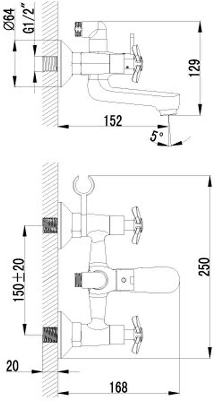 """Смеситель для ванны Lemark """"Partner"""", с фиксированным изливом.Комплектация: Аэратор; Кран-буксы с керамическими пластинами (угол поворота - 180 градусов); Переключатель с керамическими пластинами; Аксессуары в комплекте: шланг 1,5 м, 1-функциональная лейка; Металлические рукоятки. Смесители LEMARK рассчитаны на 30 лет комфортной эксплуатации.В них  соединены современные технологии производства и продуманный конструктив. Установлены  комплектующие от известных мировых производителей, являющихся лидерами в своих сегментах: немецкие аэраторы Neoperl - устройства, регулирующие расход воды;керамические  картриджи и кран-буксы испанской фирмы Sedal.Вся продукция LEMARK устанавливается  не только в частном секторе, но и с успехом эксплуатируется в офисах Hewlett-Packard, Walt Disney  Studios Sony Pictures Releasing, Mail.ru Group."""