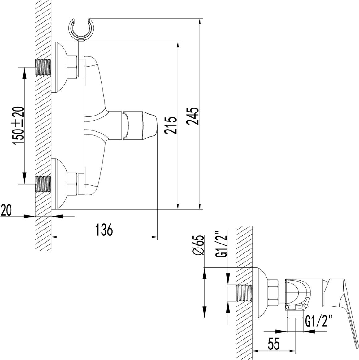 Серия PARTNER.Комплектация:Керамический картридж 25 ммАксессуары в комплекте: шланг 1,5 м, 1-функциональная лейка O66 ммМеталлическая рукоятка
