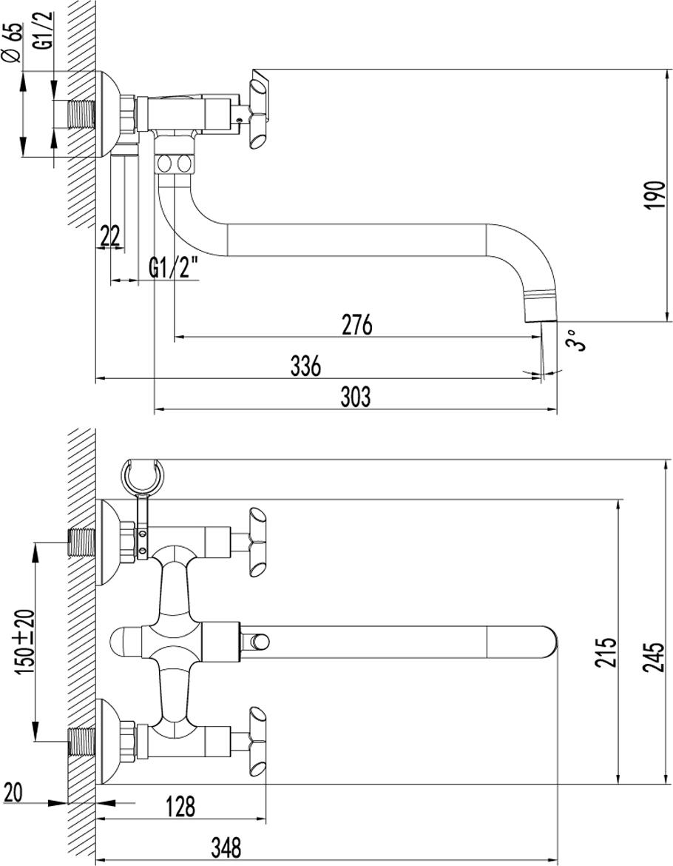 Серия PRACTICA.Комплектация:АэраторКран-буксы с керамическими пластинами (угол поворота – 90 градусов)Переключатель с керамическими пластинамиАксессуары в комплекте: шланг 1,5 м, 1-функциональная лейка O66 ммМеталлические рукоятки