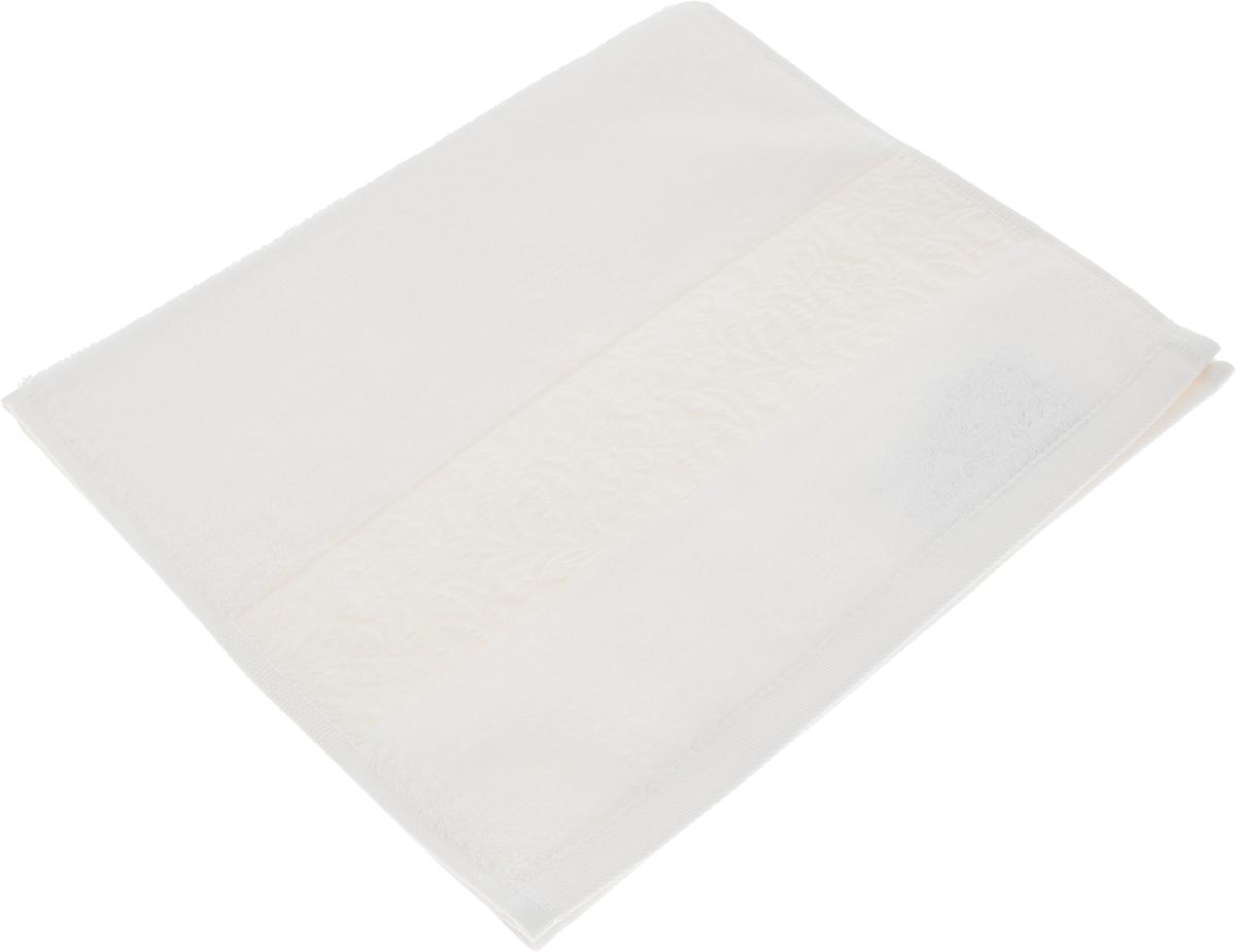 Полотенце Issimo Home Valencia, цвет: экрю, 30 x 50 см00000005561Полотенца из бамбука только издали похожи на обычные. На самом деле, при первом же прикосновении Вы ощутите насколько эти полотенца мягкие и нежные! Таким полотенцем не нужно вытираться - только коснитесь кожи - и ткань сама все впитает! Такая ткань впитывает в 3 раза лучше, чем хлопок! Набор из маленьких полотенец-салфеток очень практичен – он станет незаменимым в дороге и в путешествиях. Кроме того, это хороший, красивый и изысканный сувенир для всех, кому хочется подарить подарок. Лицевые и банные полотенца выполнены в наиболее оптимальных размерах и плотности – несмотря на богатую плотность и высокую петлю полотенец, они быстро сохнут, остаются легкими даже при намокании. Коллекция бамбуковых полотенец имеет красивый жаккардовый бордюр, выполненный с орнаментом в цвет полотенец.