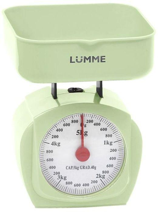 Lumme LU-1302, Green весы кухонные30208механические, 5 кг цена деления 40 г, крупный шрифт шкалы