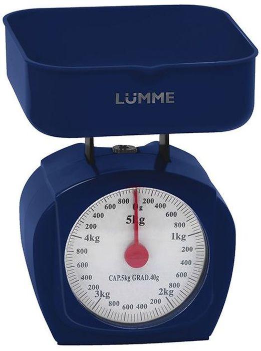 Lumme LU-1302, Purple весы кухонные30690механические, 5 кг цена деления 40 г, крупный шрифт шкалы