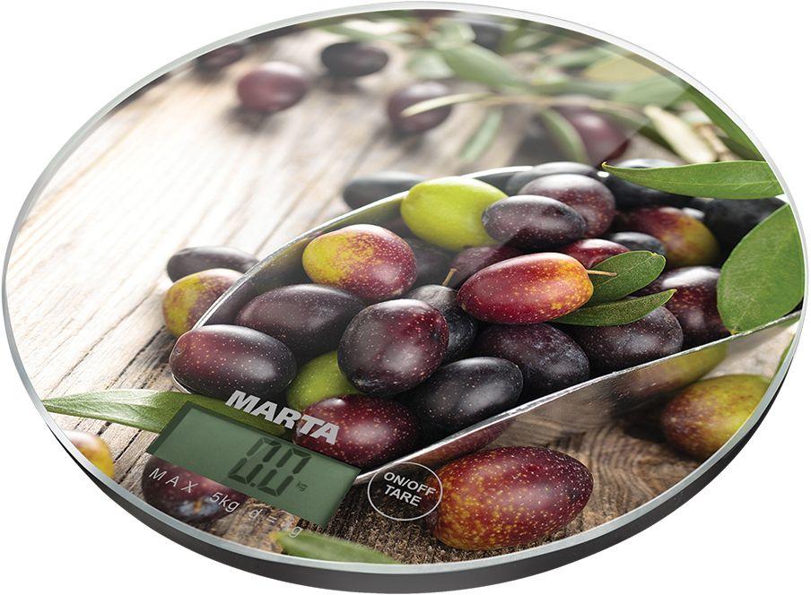 Marta MT-1635 Черная олива весы кухонные