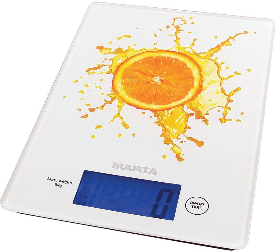 Marta MT-1633 Апельсиновый фреш весы кухонные bogeer yt 833 1 8 lcd bicycle stopwatch black 1 x cr2032