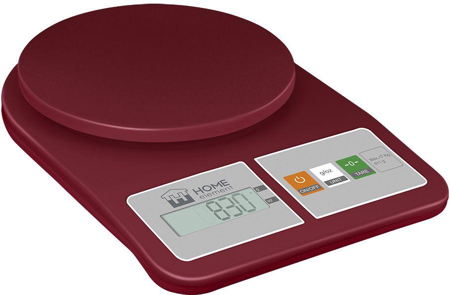 Home Element HE-SC930 Красный гранат, Red весы кухонные uni t ut139a handheld 2 7 lcd true rms digital multimeter grey red 2 x aa