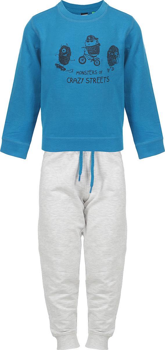 Костюм школьный для мальчика Sela, цвет: синий. StPk-713/097-8112. Размер 110StPk-713/097-8112