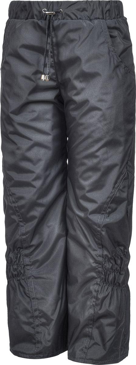 Брюки утепленные для девочки M&D, цвет: серый. БР0045Ф_20. Размер 128БР0045Ф_20Утепленные брюки от M&D выполнены из плащевой ткани на подкладке из флиса. Модель с эластичной резинкой на талии.