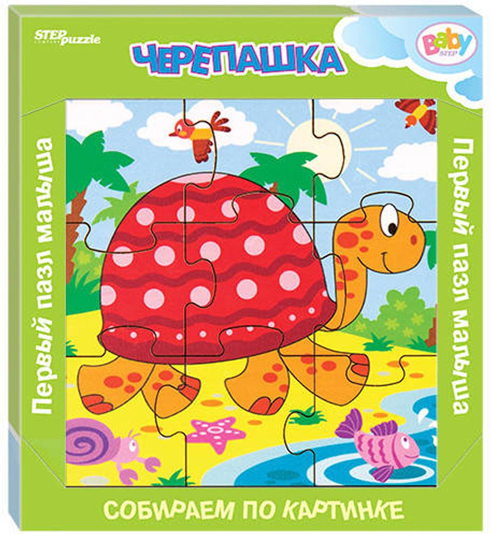 Step Puzzle Обучающая игра Собираем по картинке Черепашка