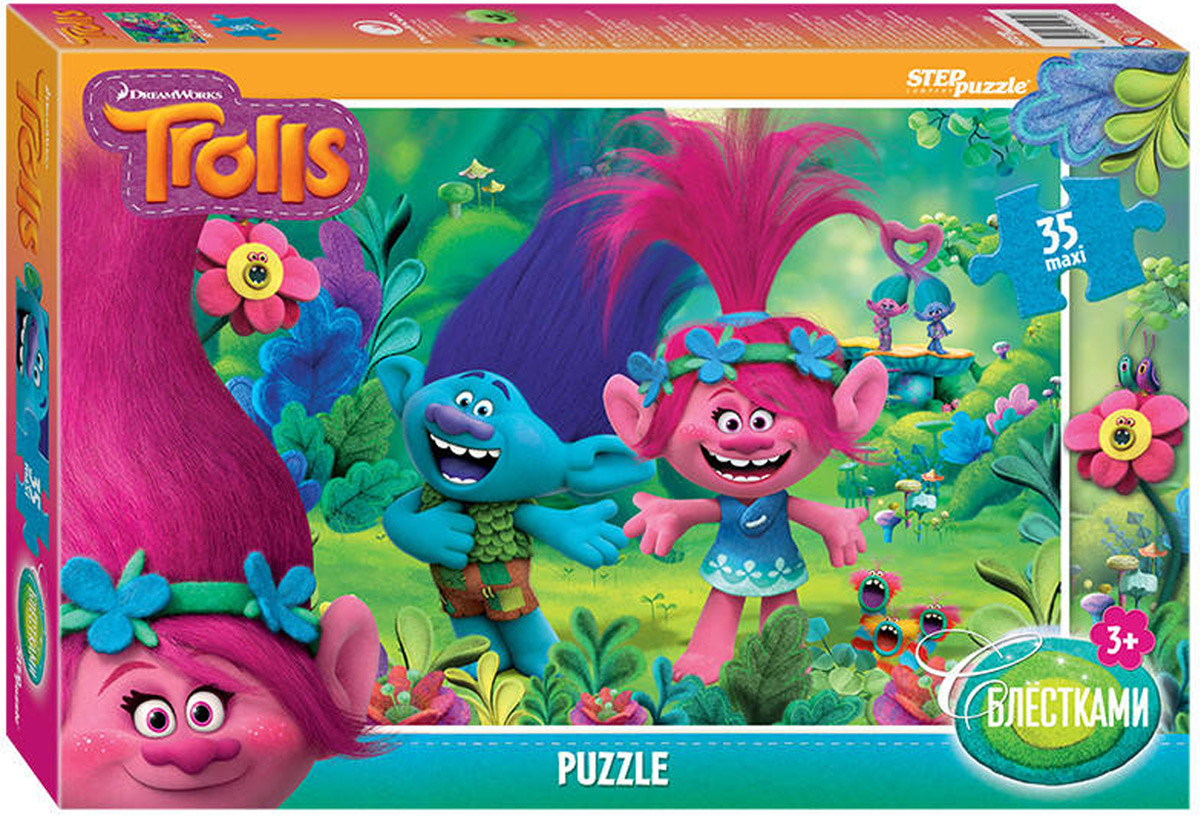 Step Puzzle Пазл Maxi DreamWorks Trolls