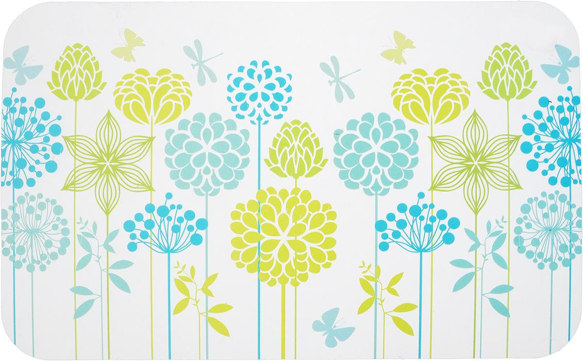 Салфетка сервировочная Пластмаркет Фантазия, цвет: салатовый, синий, 41 х 26 см conimar салфетка сервировочная сомелье пластик