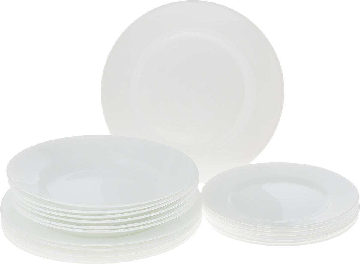 Сервиз обеденный Luminarc Every Day, 18 предметовД3299В набор включены следующие предметы: - тарелка суповая, 22 см - 6 шт.; - тарелка обеденная, 24 см - 6 шт.; - тарелка десертная, 19 см - 6 шт. Набор изготовлен из высококачественного упрочненного стекла торговой марки luminarc.Набор столовой посуды из стекла гладкой фактуры безупречно белого цвета прекрасно подойдет и для торжества. Уважаемые клиенты! Обращаем ваше внимание на то, что упаковка может иметь несколько видов дизайна. Поставка осуществляется в зависимости от наличия на складе.