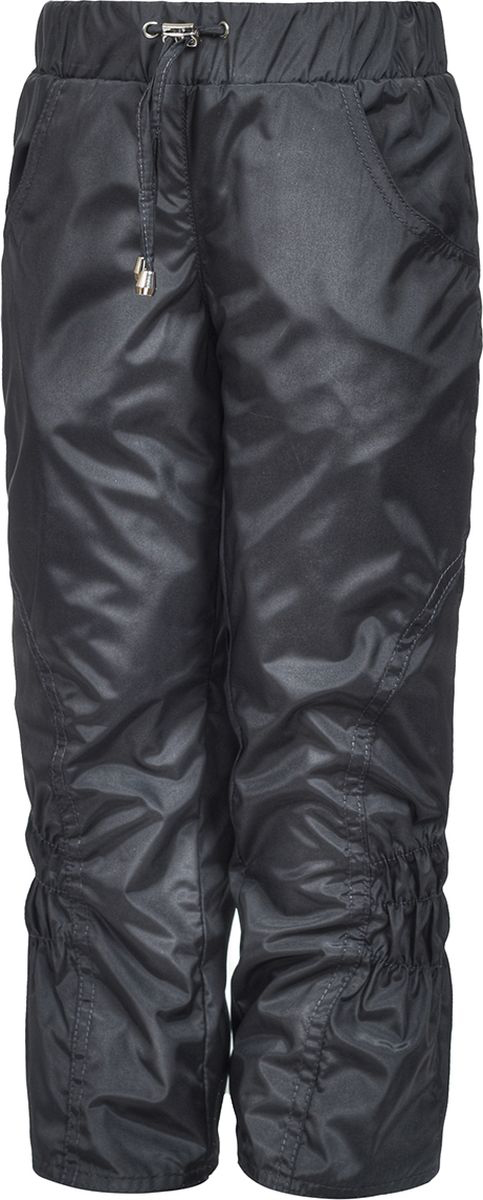 Брюки утепленные для девочки M&D, цвет: серый. БР045Ф_20. Размер 110БР045Ф_20Утепленные брюки от M&D выполнены из плащевой ткани на подкладке из флиса. Модель с эластичной резинкой на талии.