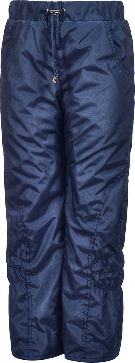 Брюки утепленные для девочки M&D, цвет: синий. БР0045Ф_9. Размер 134БР0045Ф_9Утепленные брюки от M&D выполнены из плащевой ткани на подкладке из флиса. Модель с эластичной резинкой на талии.
