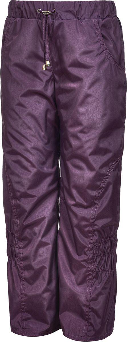 Брюки утепленные для девочки M&D, цвет: фиолетовый. БР0045Ф_12. Размер 134БР0045Ф_12Утепленные брюки от M&D выполнены из плащевой ткани на подкладке из флиса. Модель с эластичной резинкой на талии.