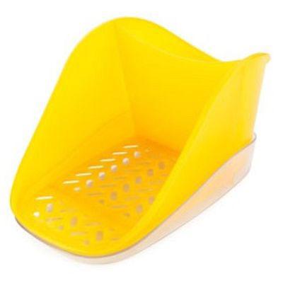 Подставка для моющего средства и губки Berossi Teo plus, цвет: желтый, 18,8 х 12 х 9,9 см + ПОДАРОК губка