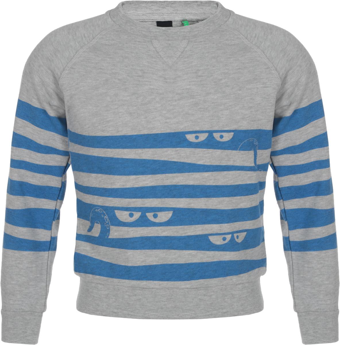 Джемпер для мальчика Sela, цвет: серый. St-713/096-8132. Размер 92St-713/096-8132