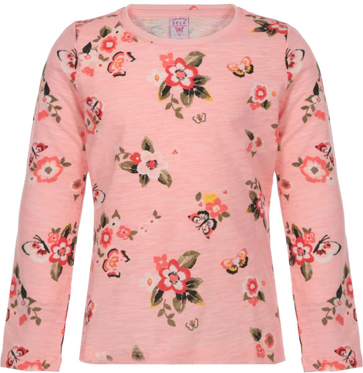 Джемпер для девочки Sela, цвет: розовый. T-511/479-8122. Размер 98T-511/479-8122