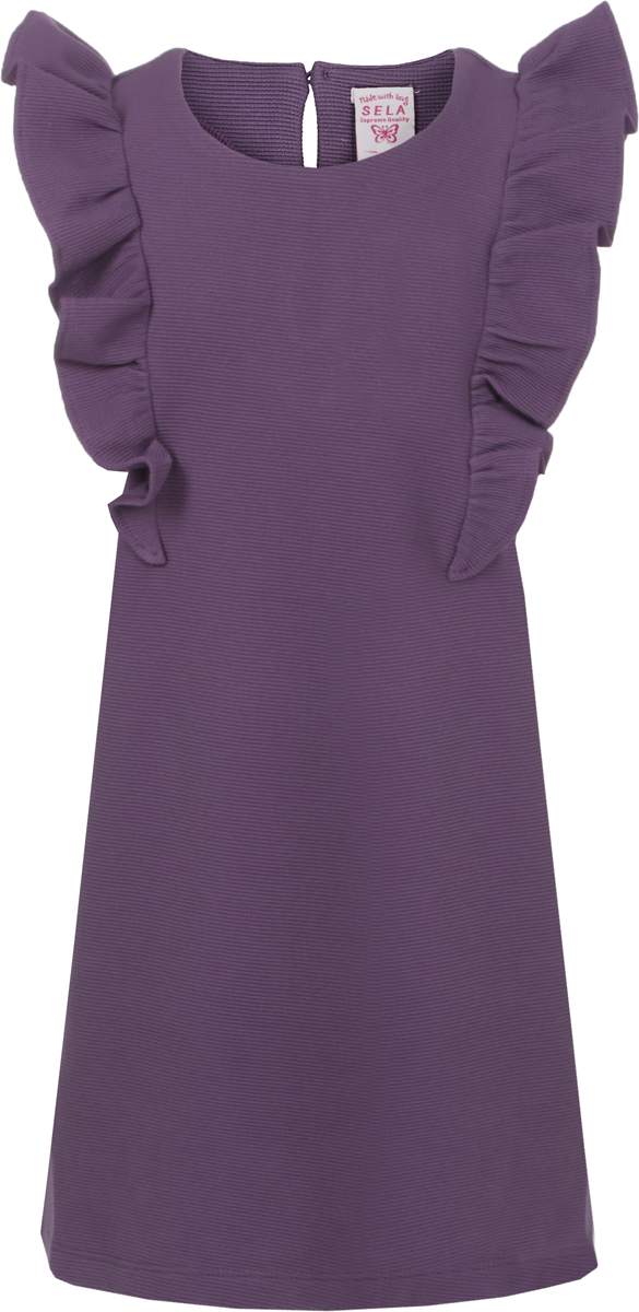 Платье для девочки Sela, цвет: фиолетовый. Dsl-517/431-8112. Размер 104Dsl-517/431-8112