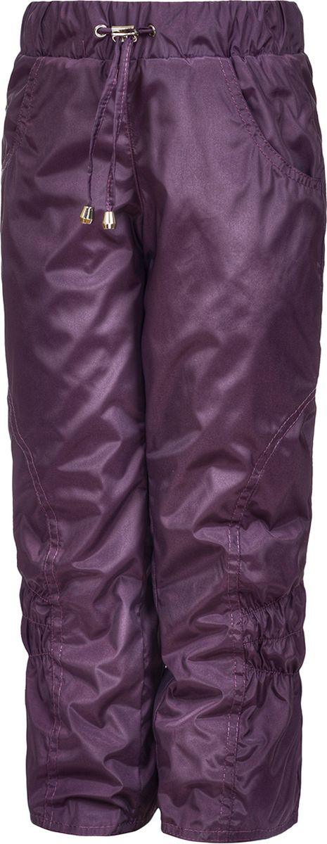 Брюки утепленные для девочки M&D, цвет: фиолетовый. БР045Ф_12. Размер 116БР045Ф_12Утепленные брюки от M&D выполнены из плащевой ткани на подкладке из флиса. Модель с эластичной резинкой на талии.