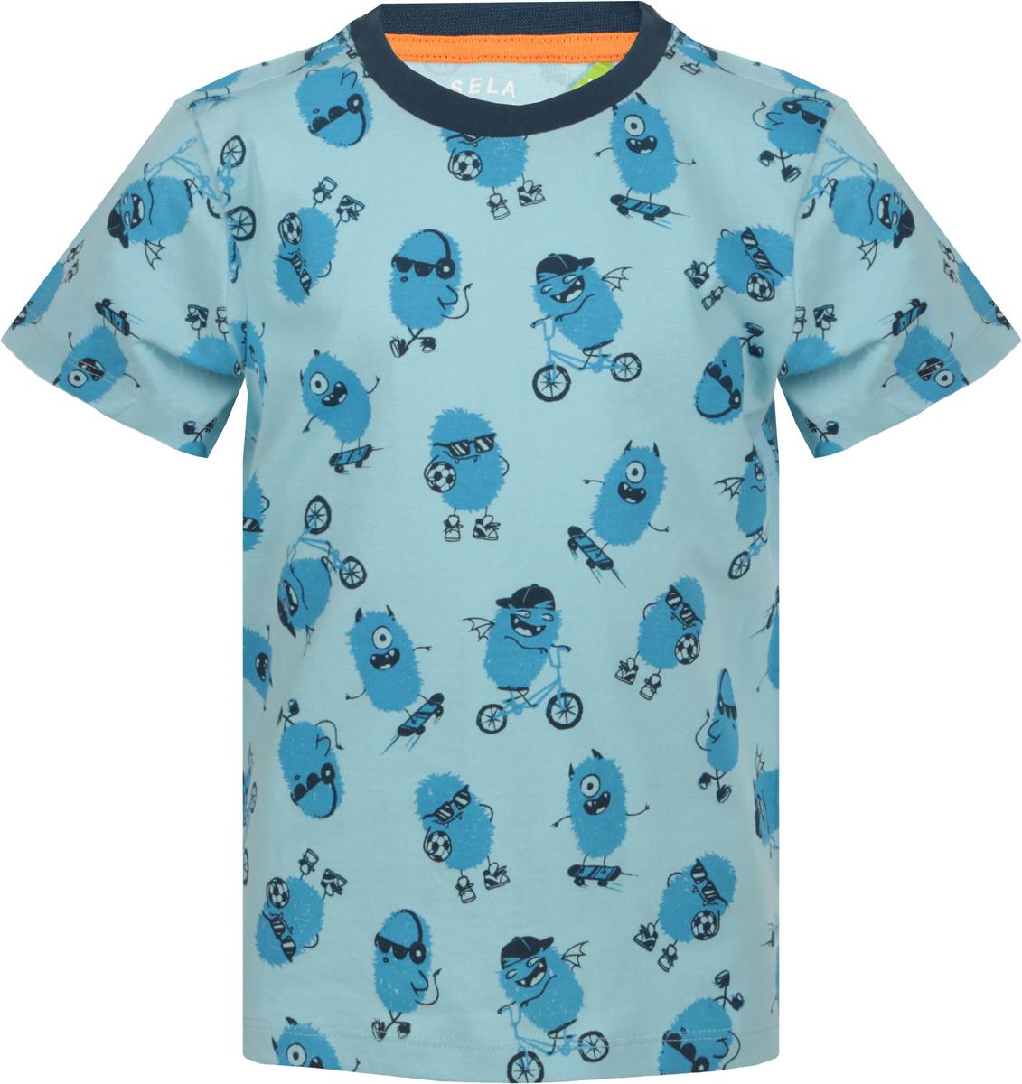 Футболка для мальчика Sela, цвет: снежно-голубой. Ts-711/539-8122. Размер 110, 5 летTs-711/539-8122