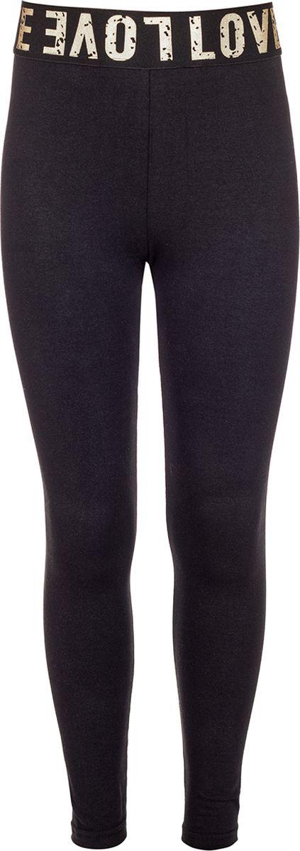 Леггинсы для девочки M&D, цвет: черный. 182270401_21. Размер 164