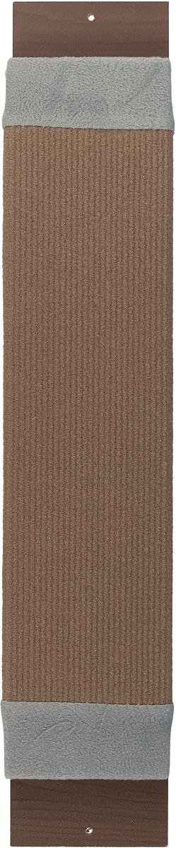 Когтеточка навесная Уют, ковролин, цвет: коричневый, серый, 55 х 12 х 4 см полка навесная сканд мебель шервуд пш 03