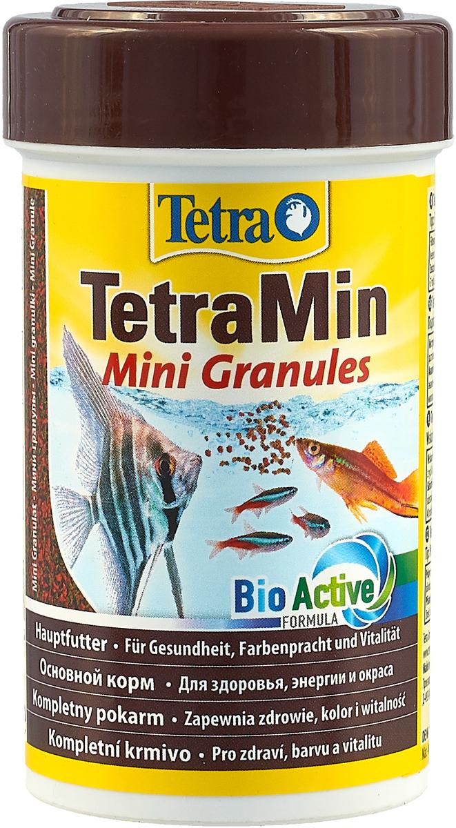 Корм_TetraMin_~Mini_Granules~_-_это_биологически_сбалансированный_корм_в_виде_мини-гранул_для_здоровой_рыбы_и_чистой_воды._Особенности_TetraMin_~Mini_Granules~:медленно_погружающиеся_гранулы_идеально_подходят_для_любых_видов_небольших_рыб,_питающихся_с_средних_слоях_воды.Рекомендации_по_кормлению:_кормить_несколько_раз_в_день_маленькими_порциями._Характеристики:_Состав:_рыба_и_побочные_рыбные_продукты,_экстракты_растительного_белка,_зерновые_культуры,_овощи,_растительные_продукты,_дрожжи,_моллюски_и_раки,_масла_и_жиры,_водоросли,_минеральные_вещества.Пищевая_ценность:_сырой_белок_-_44%25,_сырые_масла_и_жиры_-_11%25,_сырая_клетчатка_-_2%25,_влага_-_8%25.Добавки:_витамины,_провитамины_и_химические_вещества_с_аналогичным_воздействием:_витамин_А_29870_МЕ/кг,_витамин_Д3_1870_МЕ/кг._Комбинации_элементов:_Е5_Марганец_67_мг/кг,_Е6_Цинк_40_мг/кг,_Е1_Железо_26_мг/кг._Красители,_консерванты,_антиоксиданты.Вес:_100_мл_(45_г).