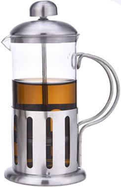 Френч-пресс Olaff, 600 мл. VL-10/600VL-10/600Френч-пресс Olaff - это совершенный чайник для ежедневного использования. Корпус выполнен из стекла и нержавеющей стали. Чайник с плотной крышкой и удобной ручкой имеет специальный фильтр для отделения чайных листьев от воды, а также пресс. После заваривания чая фильтр не надо вынимать. Заваривание чая в чайнике OLAFF - это приятное и легкое занятие. Заварочный чайник займет достойное место на вашей кухне. Современный дизайн полностью соответствует последним модным тенденциям в создании предметов бытовой техники.