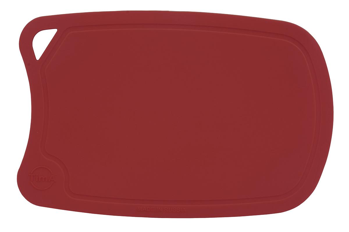 Доска разделочная TimA, овальная, цвет: бордовый, 31 х 21 х 0,3 смДРГ-3221_БордовыйРазделочная доска TimA, изготовленная из высококачественного полиуретана, обладает уникальными свойствами и по своим характеристикам превосходит разделочные доски из любых других материалов.Доска из полиуретана не вступает в химическую реакцию с продуктами. Не выделяет никаких веществ. Препятствует развитию болезнетворных микроорганизмов. Не тупит керамические и металлические ножи.Доска плотно прилегает к любой поверхности стола или столешницы, не скользит. При работе с острым ножом это очень важно в плане безопасности. По краю доски проходит небольшой желоб, который предохраняет от растекания жидкости (например, сок фруктов и овощей).Благодаря исключительным свойствам полиуретана, срок службы такой доски значительно выше, чем досок из дерева и пластика. Единственные ограничения для досок из полиуретана – не использовать их как подложку для рубки мяса или подставку под горячее.Доска абсолютно не впитывают влагу и запахи продуктов, легко очищается от жира и грязи. Благодаря отсутствию пористости полиуретана, болезнетворные микроорганизмы (бактерии, грибки плесени) и запахи легко удаляются с поверхности, в отличие от деревянных разделочных досок.