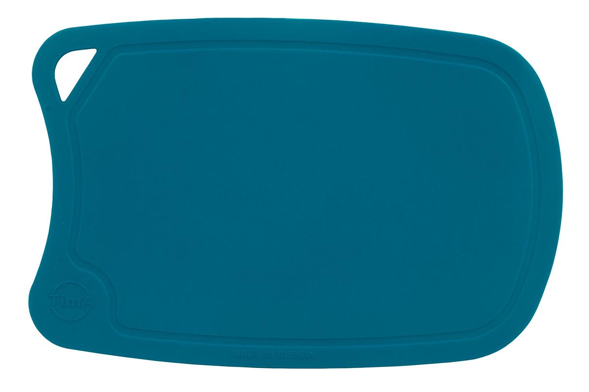 Доска разделочная TimA, цвет: бирюзовый, 28 х 19 смДРГ-2819_БирюзовыйРазделочная доска TimA, изготовленная из высококачественного полиуретана, обладает уникальными свойствами и по своим характеристикам превосходитразделочные доски из любых других материалов. Доска из полиуретана не вступает в химическую реакцию с продуктами. Не выделяет никаких веществ. Препятствует развитию болезнетворных микроорганизмов. Не тупит керамические и металлические ножи.Доска плотно прилегает к любой поверхности стола или столешницы, не скользит. При работе с острым ножом это очень важно в плане безопасности. По краю доски проходит небольшой желоб, который предохраняет от растекания жидкости (например, сок фруктов и овощей). Благодаря исключительным свойствам полиуретана, срок службы такой доски значительно выше, чем досок из дерева и пластика. Единственные ограничения для досок из полиуретана – не использовать их как подложку для рубки мяса или подставку под горячее. Доска абсолютно не впитывают влагу и запахи продуктов, легко очищается от жира и грязи. Благодаря отсутствию пористости полиуретана, болезнетворные микроорганизмы (бактерии, грибки плесени) и запахи легко удаляются с поверхности, в отличие от деревянных разделочных досок.