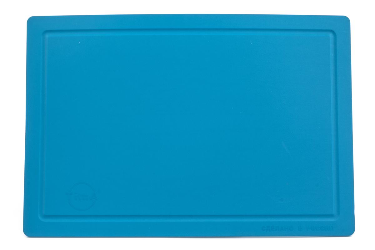 Доска разделочная TimA, цвет: бирюзовый, 36 х 25 х 0,5 смДРГ-3625_БирюзовыйРазделочная доска TimA, изготовленная из высококачественного полиуретана, обладает уникальными свойствами и по своим характеристикам превосходит разделочные доски из любых других материалов.Доска из полиуретана не вступает в химическую реакцию с продуктами. Не выделяет никаких веществ. Препятствует развитию болезнетворных микроорганизмов. Не тупит керамические и металлические ножи.Доска плотно прилегает к любой поверхности стола или столешницы, не скользит. При работе с острым ножом это очень важно в плане безопасности. По краю доски проходит небольшой желоб, который предохраняет от растекания жидкости (например, сок фруктов и овощей).Благодаря исключительным свойствам полиуретана, срок службы такой доски значительно выше, чем досок из дерева и пластика. Единственные ограничения для досок из полиуретана – не использовать их как подложку для рубки мяса или подставку под горячее.Доска абсолютно не впитывают влагу и запахи продуктов, легко очищается от жира и грязи. Благодаря отсутствию пористости полиуретана, болезнетворные микроорганизмы (бактерии, грибки плесени) и запахи легко удаляются с поверхности, в отличие от деревянных разделочных досок.