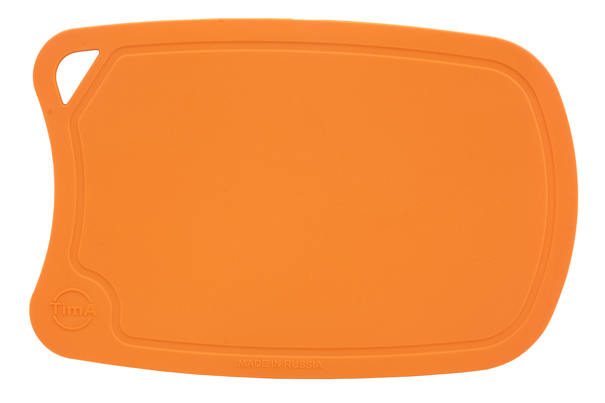 Доска разделочная TimA, цвет: оранжевый, 28 х 19 смДРГ-2819_ОранжевыйРазделочная доска TimA, изготовленная из высококачественного полиуретана, обладает уникальными свойствами и по своим характеристикам превосходитразделочные доски из любых других материалов. Доска из полиуретана не вступает в химическую реакцию с продуктами. Не выделяет никаких веществ. Препятствует развитию болезнетворных микроорганизмов. Не тупит керамические и металлические ножи.Доска плотно прилегает к любой поверхности стола или столешницы, не скользит. При работе с острым ножом это очень важно в плане безопасности. По краю доски проходит небольшой желоб, который предохраняет от растекания жидкости (например, сок фруктов и овощей). Благодаря исключительным свойствам полиуретана, срок службы такой доски значительно выше, чем досок из дерева и пластика. Единственные ограничения для досок из полиуретана – не использовать их как подложку для рубки мяса или подставку под горячее. Доска абсолютно не впитывают влагу и запахи продуктов, легко очищается от жира и грязи. Благодаря отсутствию пористости полиуретана, болезнетворные микроорганизмы (бактерии, грибки плесени) и запахи легко удаляются с поверхности, в отличие от деревянных разделочных досок.