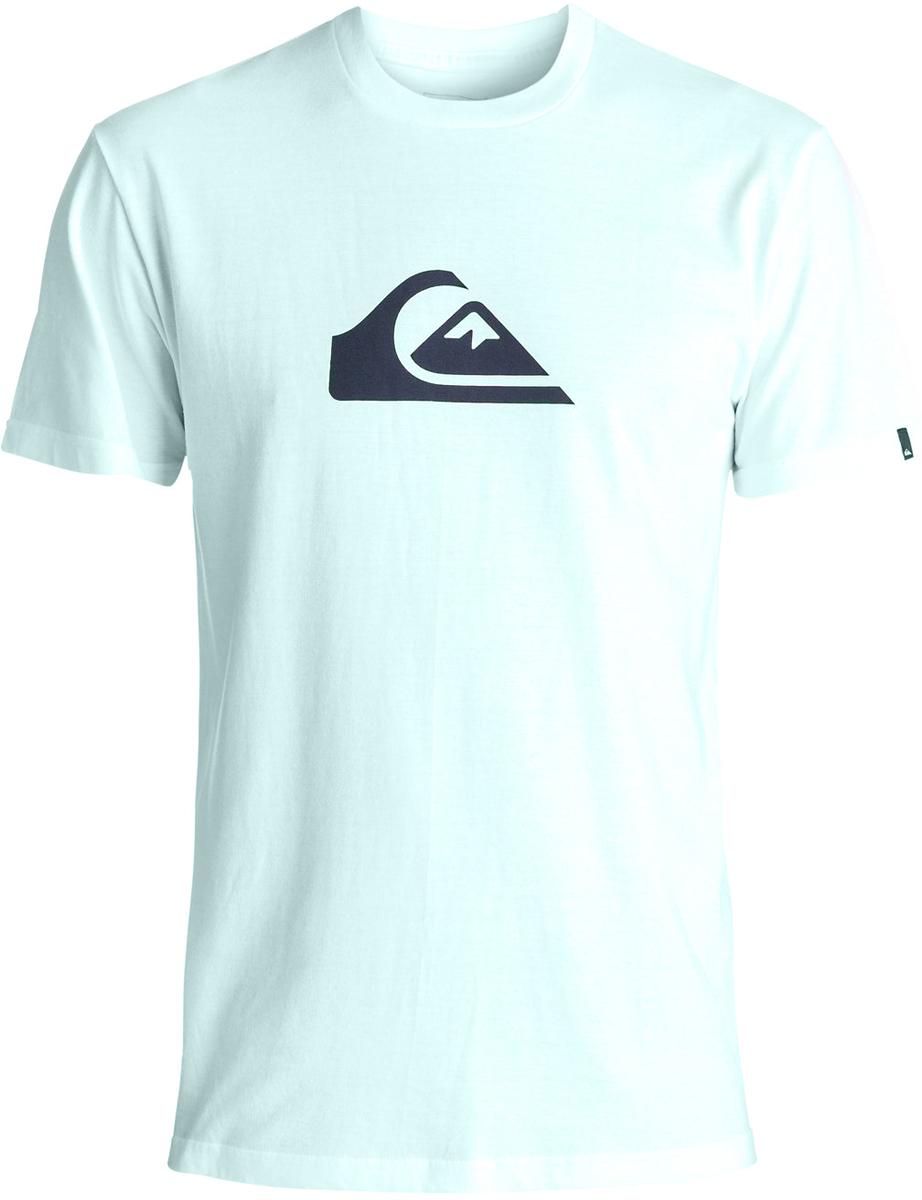 Футболка мужская Quiksilver, цвет: светло-голубой. EQYZT04773-BFD0. Размер M (48)EQYZT04773-BFD0Мужская футболка от Quiksilver выполнена из хлопка. Модель с круглым вырезом горловины и короткими рукавами оформлена спереди оригинальным принтом.