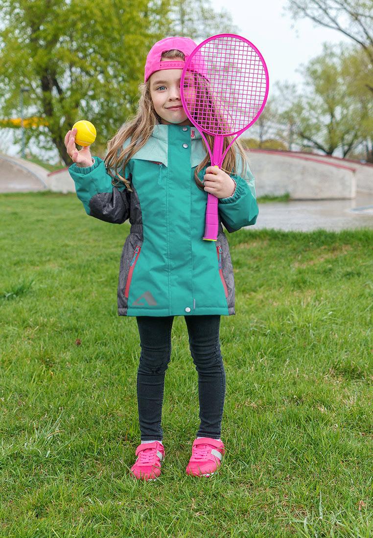 Куртка для девочки Oldos Active Одри, цвет: бирюзовый. 2A8JK06. Размер 140, 10 лет куртка для девочки oldos active одри цвет коралловый темно серый 2a8jk06 размер 140 10 лет