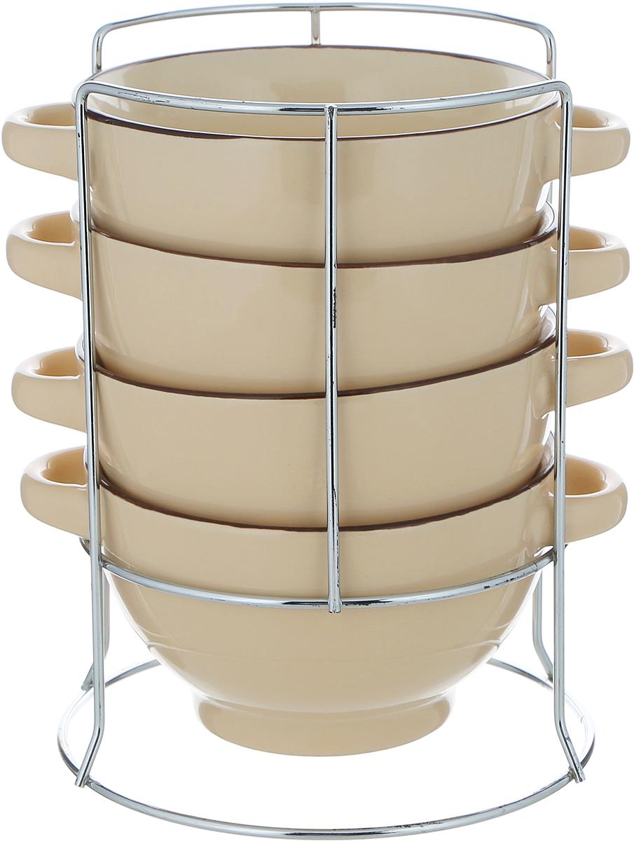 Набор супниц Mayer & Boch, с подставкой, 420 мл, диаметр 13,5 см. 22579 набор супниц 5 предметов 700 мл mayer