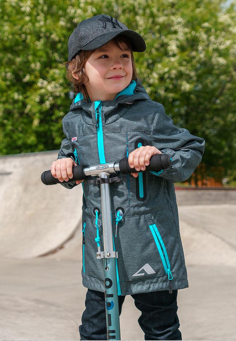Куртка для мальчика Oldos Active Эрагон, цвет: серый. 3A8JK15. Размер 104, 4 года3A8JK15Стильная куртка из мембранной коллекции от Oldos Active. Верхняя ткань с мембраной 3000/3000 обеспечивает водонепроницаемость, при этом ветровка дышит. Покрытие Teflon повышает износостойкость, а также облегчает уход за курткой. Подкладка - флис, в области груди и спины, плотный полиэстер в рукавах. Такая куртка прекрасно защитит от непогоды благодаря продуманному функционалу: капюшону с внутренней резинкой по краям для лучшего прилегания, ветрозащитной планке по всей длине молнии с защитой подбородка, манжетам на резинке с клином, который регулируется липучкой и внешней регулировке по талии. Куртка оснащена карманами на молнии и светоотражающими элементами. Внутри куртки есть потайной карман, который застегивается на липучку и нашивка-потеряшка.